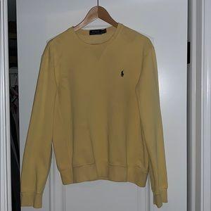 Medium polo crew neck sweater, pastel yellow